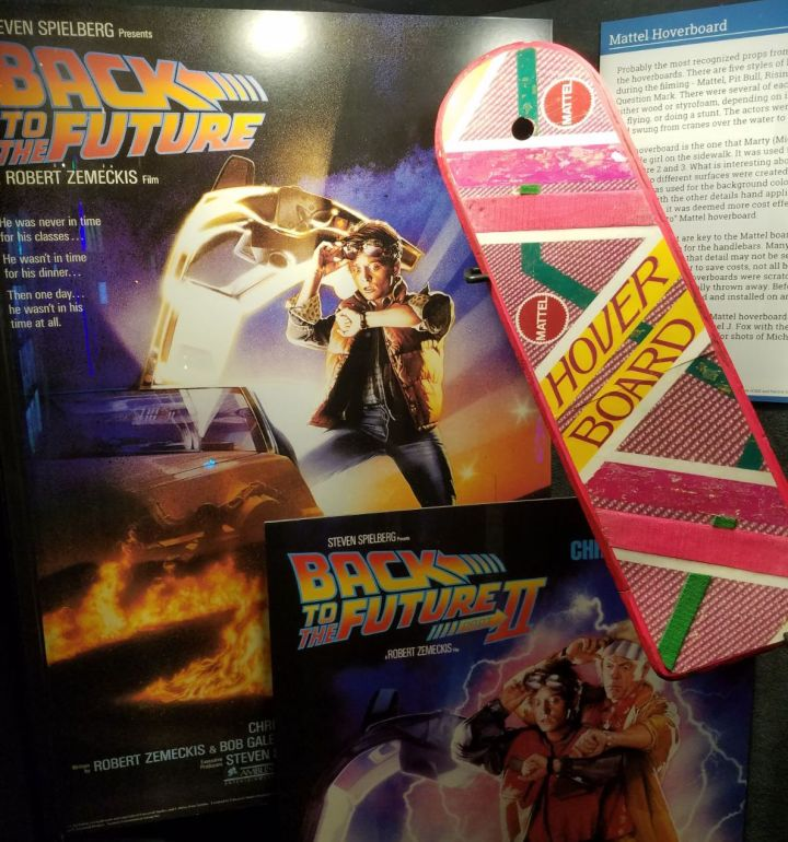 Back to the Future poster with hoverboard from the movie