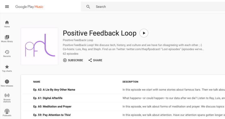 Screenshot of Positive Feedback Loop on Google Play